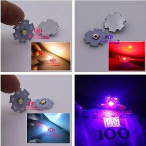 T6 10W 5050 Emitter Diodes Red Green Blue UV white 3.2-3.6V 3A LED 20mm star