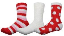 3 Paar weich und warme, flaumige Socken,  kuschelige Bettsocken