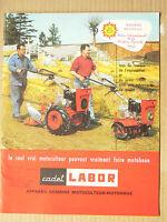 Prospectus  Motoculteur  LABOR Cadet   non daté  brochure catalogue tracteur