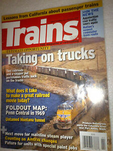 Trains Magazine Feb 2010: UP vs Trucks, PC '69 +more, Calif Rails, Movies + more