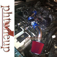 BLUE 1998-2001 FORD RANGER XL XLT 2.5 2.5L AIR INTAKE KIT SYSTEMS + RED FILTER