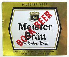 Peter Hand MEISTER BRAU BOCK BEER beer label IL 1 qt