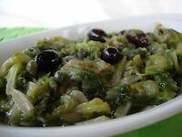 Scarole Capperi e Olive 314 gr in vetro Ingrediente Tipico della cucina Campana.