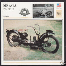 1922 Ner-A-Car 250cc 2 1/2hp American 211cc Motorcycle Photo Spec Info Stat Card