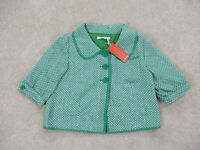 NEW Anthropologie Tullette Jacket Womens Small Green Crop Coat Blazer Ladies