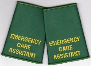 Woven Emergency Care Assistant Epaulette Slider Pair Green Epaulettes