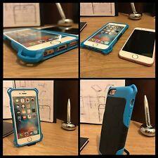 Heavy Duty Industrial Tech Goma resistente Azul caso para Apple iPhone 6 y 6S