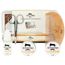 Beard Care Gift Set Tin | Balm, Wax, Oil, Comb, Scissors | Vanilla & Mango
