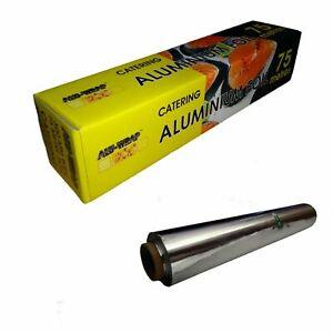 #AluWrap Kitchen Catering Aluminium Foil Tin Food Packing Box 300mm & 450mmx75m