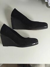 LOCALE Black Suede Wedge 3 inch size 38