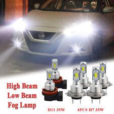 H7 H7 H11 LED Headlight Fog Light 6000K White 6PC Kit Fit VW For Tiguan 2018-19
