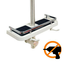 Bathroom Pole Shelf Adjustable Shower Caddy Rack Bath Storage Holder Organizer