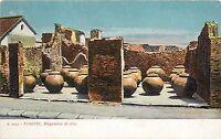 Pompei Italy Italia Naples Volcanic Ruins Vases Postcard