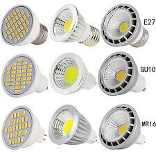 UK Dimmable E27/GU10/MR16 LED Spot Lights Bulbs SMD/COB Lamp 4W 5W 6W 9W 12W 15W