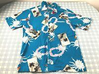 Vtg 80s HILO HATTIES Hawaiian Aloha S/S Shirt Mens SMALL Magnum PI 100% cotton