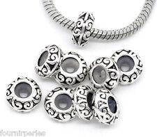 50 Perles FP Bloqueur avec Caoutchouc pr Bracelet Charms