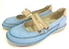 DOC COMFORT Leder Schuhe Spangen Ballerinas blau hellblau weich NEU Weite H