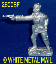 Military Lead Casting LA2600BF 24th Foot British Officer Standing Firing