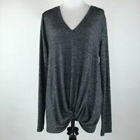 Sunday in Brooklyn Anthropologie Women Gray Knit Long Sleeve Sweater sz L