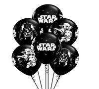 """Star Wars Darth Vader Yoda Print Latex 12"""" Balloon Pack of 12 or 24!!"""