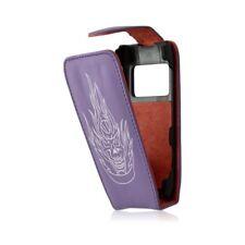 housse etui pour Nokia N8 Motif tête de mort couleur violet + film ecran