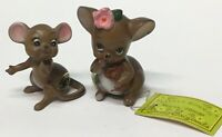Josef Originals 2 Mice Figurines from the Mouse Village Series Little Mommie +1
