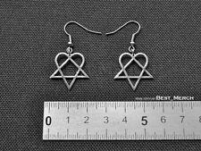 Him Earrings stainless steel Heartagram Pendant merch logo symbol