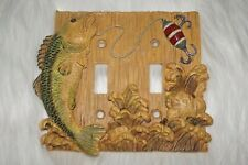 Ocean Decor Double Toggle 3D Light Switch Cover Sea Life Fishing Beach Theme