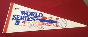 Vintage 1984 WORLD SERIES Pennant DETROIT TIGERS vs SAN DIEGO PADRES Full Size