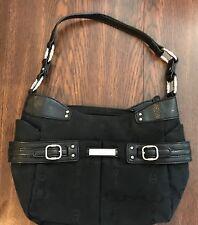 Etienne Aigner Black Signature Canvas Handbag Purse EXCELLENT!
