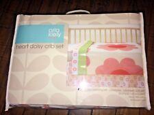 NEW Orla Kiely for Target 3-Piece Cotton Crib Bedding Set Heart Daisy Flowers