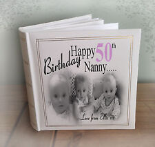 Personalised large luxury photo album, 50th birthday or any age??, gift present