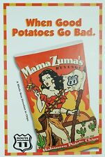 Vintage When Good Potatoes Go Bad Mama Zuma's Revenge Potato Chip Ad Poster