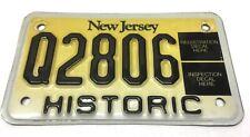 Vintage NJ New Jersey HISTORIC Motorbike Motorcycle License Plate  - # Q2806