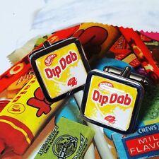 Unique DIP DAB CUFFLINKS sweets SHERBET lollipop RETRO novelty GIFT bassetts ACE