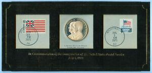 1971 US BENJAMIN FRANKLIN WINTON BLOUNT Postal Service Silver Proof Medal Coin