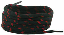 140 cm long, 4 mm round Shoe & Boot Laces Black and Red fleck.