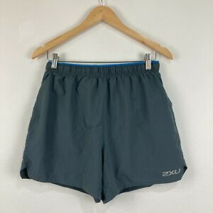 2XU Mens Shorts Size M Medium Grey Elastic Waist