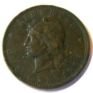 elf Argentina 2 Centavos 1884