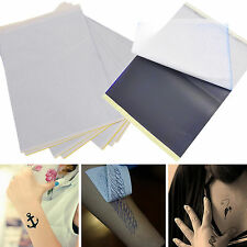 WOW 5 Sheets Tattoo Transfer Carbon Paper Supply Tracing Copy Body Stencil