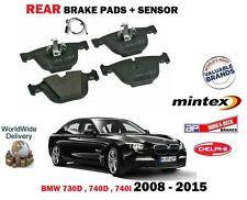 para BMW 730d 740d 740i 2008-2015 NUEVO JUEGO DE PASTILLAS DISCOS FRENO TRASERO