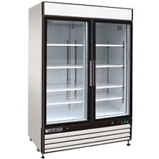 "New MAXX COLD Double Glass Door Reach-in Cooler 54"" MXM1-48R FREE SHIPPING!"