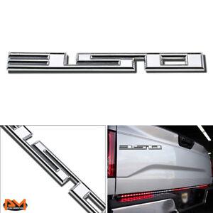 """350"" Polished Metal 3D Decal Silver Emblem Sticker For Chevrolet/Isuzu/Pontiac"