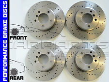 FOR FORD MONDEO ST200 ST24 FRONT & REAR PERFORMANCE DRILLED BRAKE DISC DISCS NEW