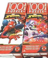 DISNEY Marvel SPIDERMAN Jigsaw PUZZLES 100 Pc Each 6+ (2 Boxes) *NEW