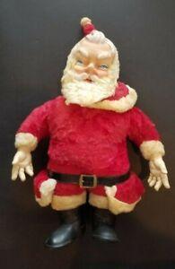 """1950's Vintage Rushton? Type 24"""" Rubber Face Santa Claus Plush Stuffed Doll"""