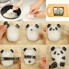 Useful Mould Ball Panda DIY Sushi Nori Punch Maker Onigiri Shape Rice Mold.uk