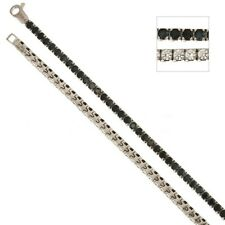 White gold 18Kt 750/1000 with black and white cubic zirconia Tennis type bracele
