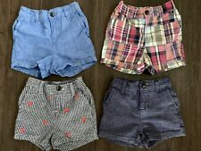 Janie And Jack Infant Boy Shorts 6-12 Months Lot Of 4