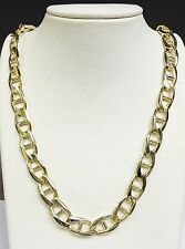"""14k Solid Yellow Gold Anchor Mariner chain/necklace 11 MM 130 Grams 30"""""""